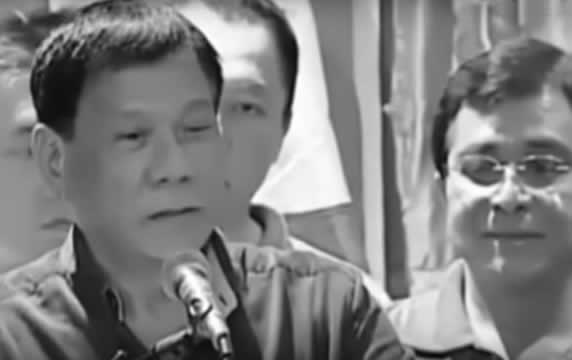 Candidate Duterte talks in public about his teen-age encounter with a maid