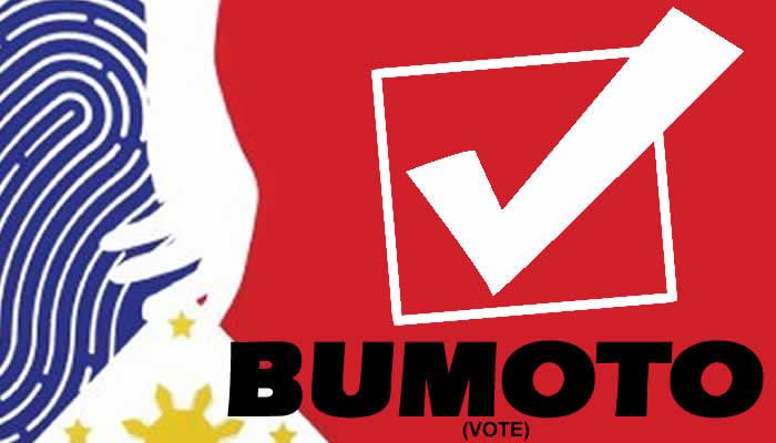 Bumoto (vote). Graphic: COMELEC/PNL