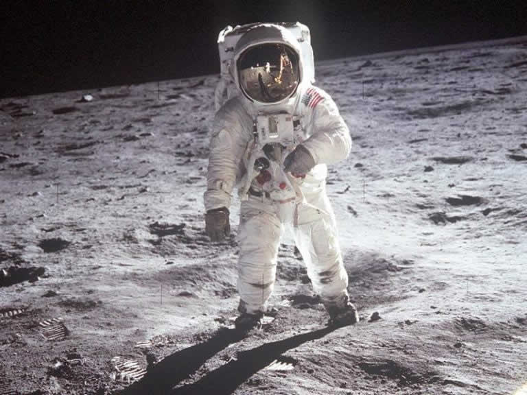 Buzz Aldrin on the lunar surface taken by Neil Armstrong