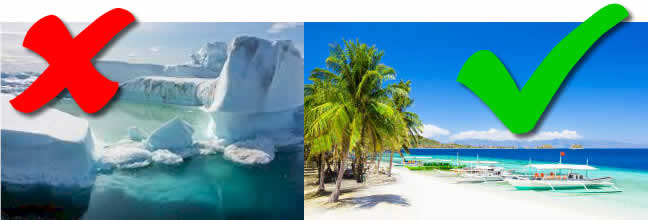 Greenland (left), Philippines (right). Which to choose?