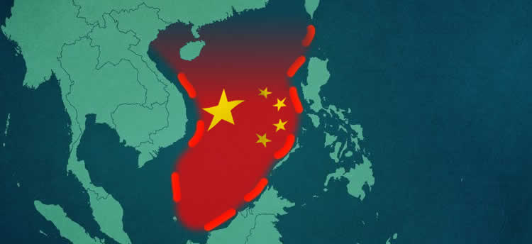 China's infamous Nine-Dash Line in the West Philippine Sea (South China Sea)
