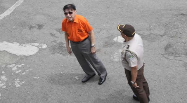 Antonio Sanchez (L) at maximum security compound, New Bilibid Prison on August 22, 2019
